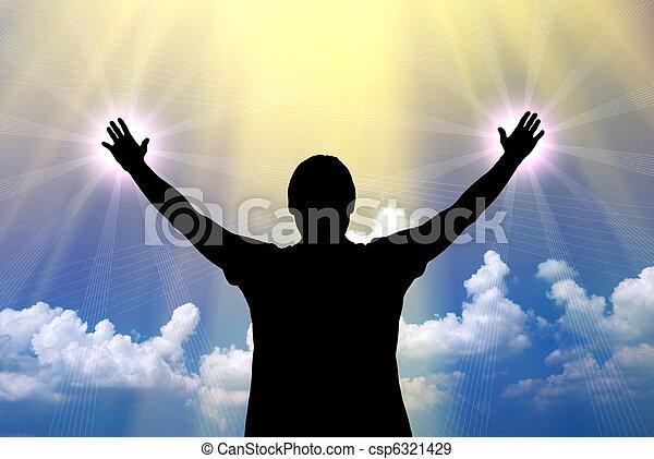 Worship to God - csp6321429