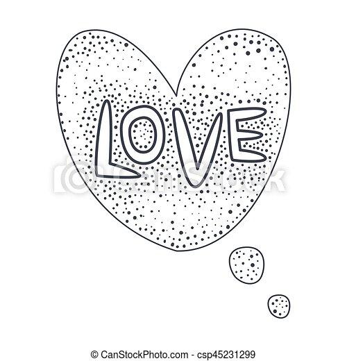 Wort, clipart, liebe, gegenstand, freigestellt, hand,... EPS ...