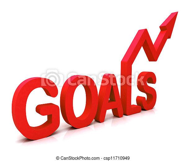 Rote Ziele zeigen Hoffnung und Zukunft - csp11710949
