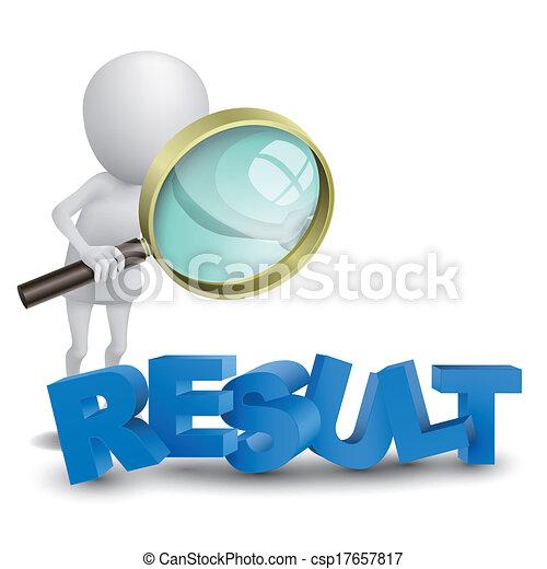 """wort, """"result"""", person, aufpassen, glas, vergrößern, 3d - csp17657817"""