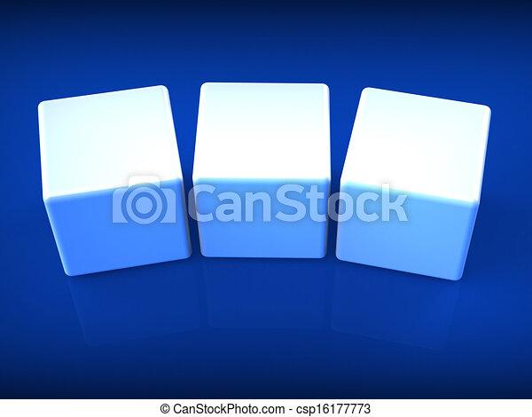 wort, spielwürfel, copyspace, weisen, drei, 3, brief, leer - csp16177773