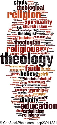 Theologische Wortwolke - csp23911321