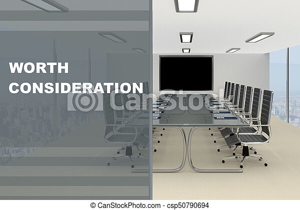 Worth Consideration concept - csp50790694
