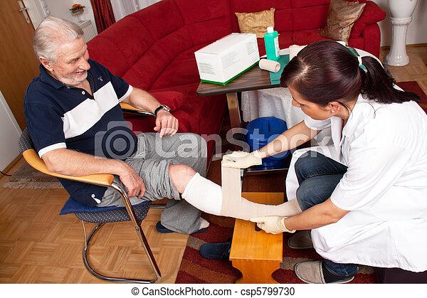 Wound care by nurses - csp5799730