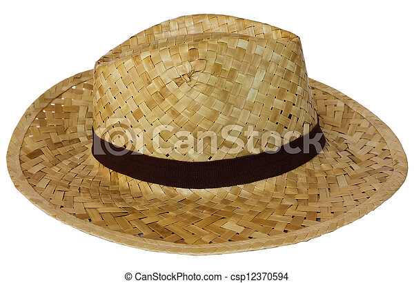 Woven hat on white background. Hat made from coconut leaves handmade. 278172a6d0f
