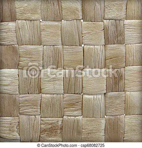 woven mat texture made from dry water hyacinth - csp68082725
