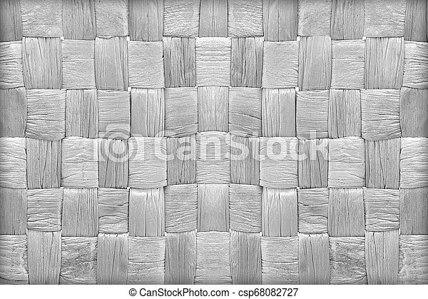 woven mat texture made from dry water hyacinth - csp68082727