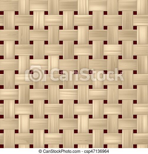 Woven Rattan Wicker Weave Seamless Pattern Texture Background   Light Beige  Color   Csp47136964