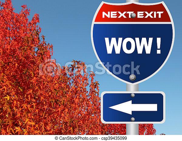 wow, sinal estrada - csp39435099