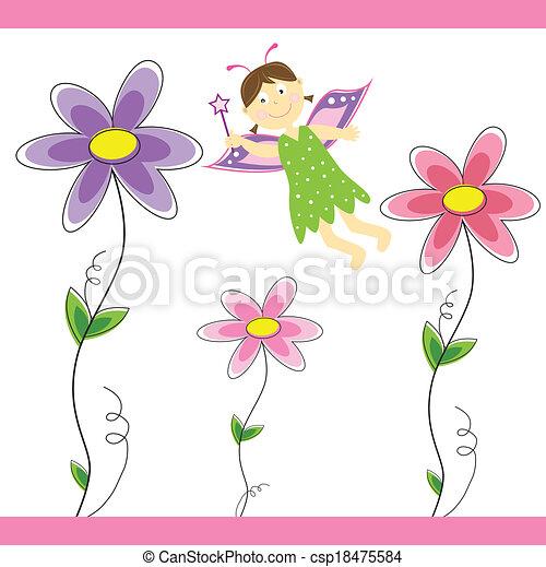 wróżka, kwiat - csp18475584