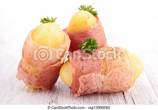 wrapped bacon appetizer - csp13956062