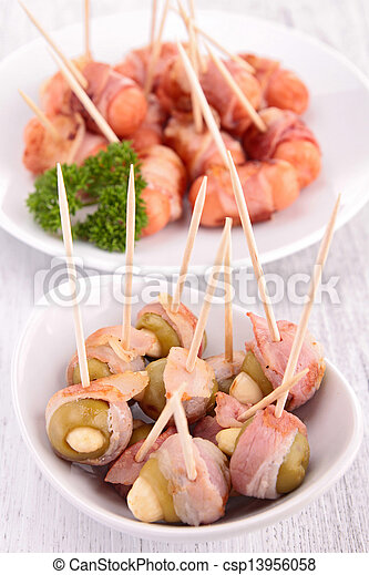 wrapped bacon appetizer - csp13956058