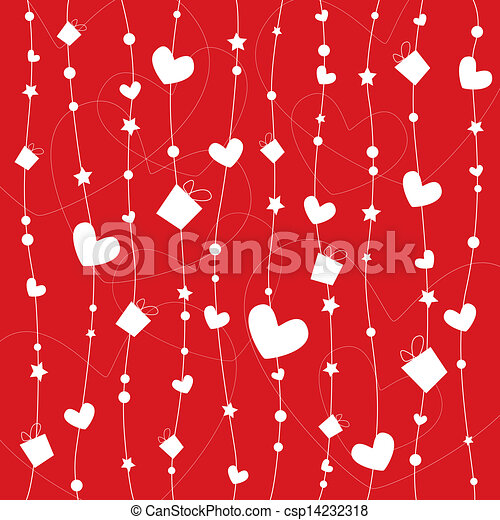 wrapping paper design for valentine vector - Valentines Day Wrapping Paper