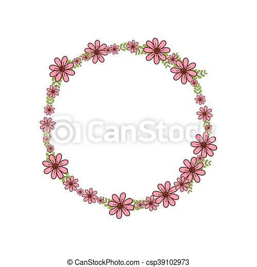 Wreath Crown Flower Icon Vector Graphic Wreath Crown Flower Garden