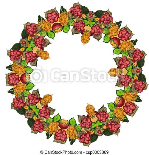 wreath floral - csp0003369