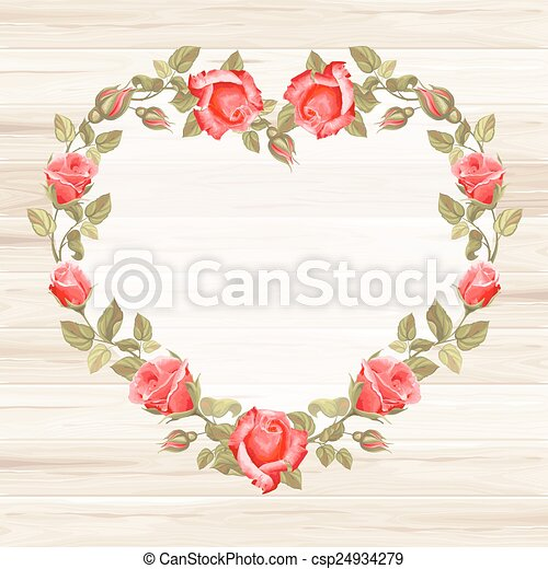 Wreath from rose - csp24934279