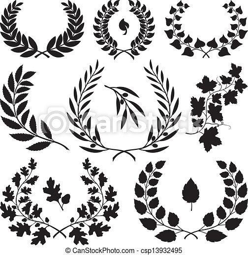Wreath icons - csp13932495