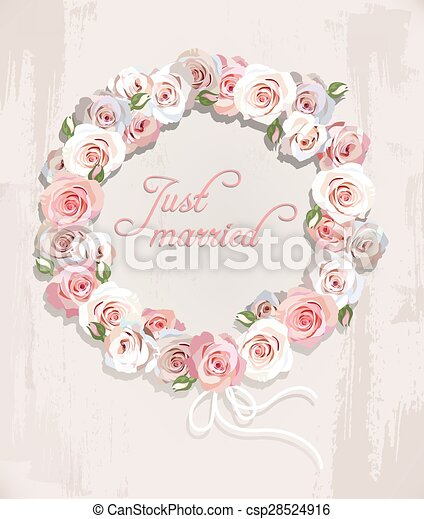 Wreath made of roses - csp28524916