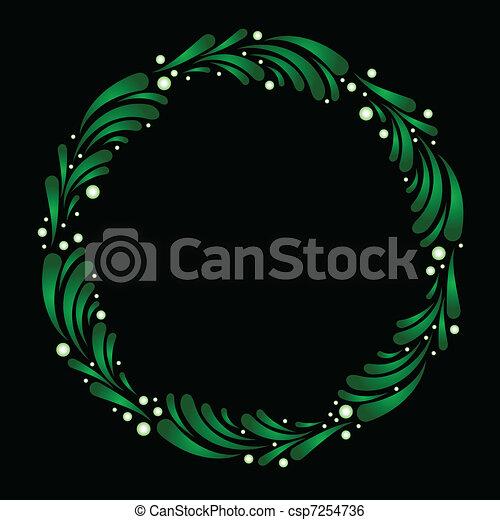 Wreath of stylized mistletoe - csp7254736