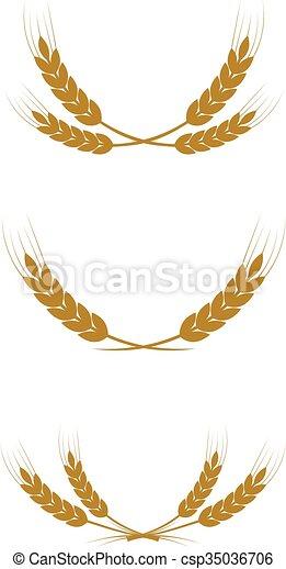 wreath of wheat - csp35036706