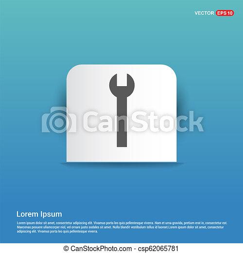 Wrench Icon - Blue Sticker button - csp62065781