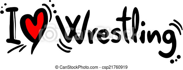 wrestling, amor - csp21760919