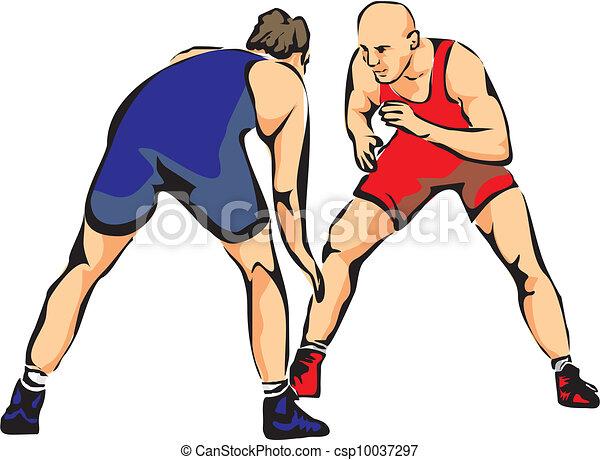 greco roman wrestling freestyle wrestling combat sport eps vectors rh canstockphoto com Pain Free Clip Art wrestler clipart free
