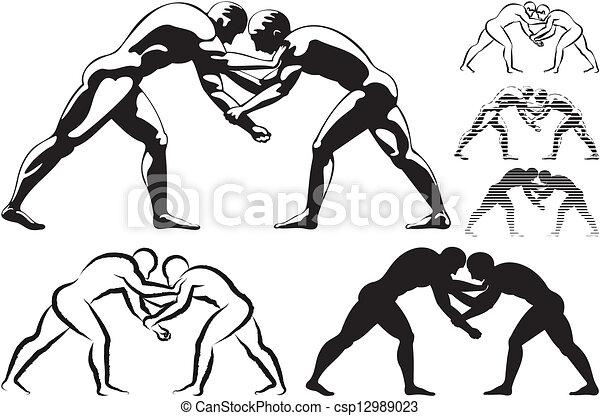 wrestling - csp12989023