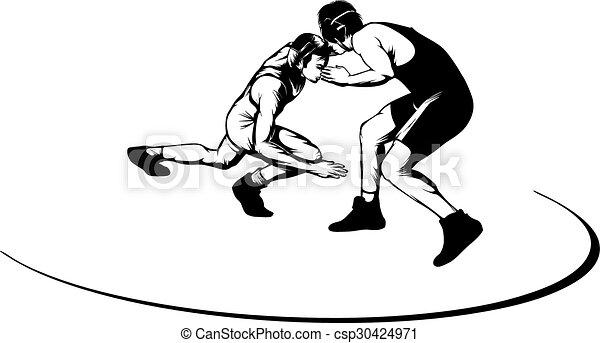Wrestling Move - csp30424971