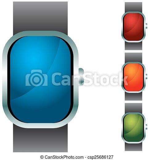 Wristband Button Icon Set - csp25686127