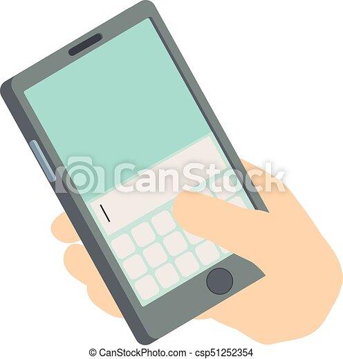 Write phone icon, isometric 3d style - csp51252354
