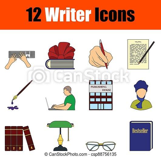 Writer Icon Set - csp88756135