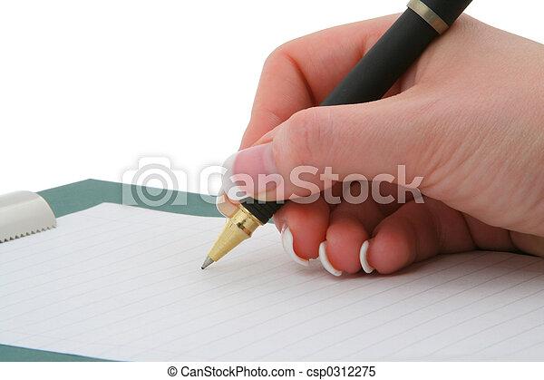 writing hand - csp0312275
