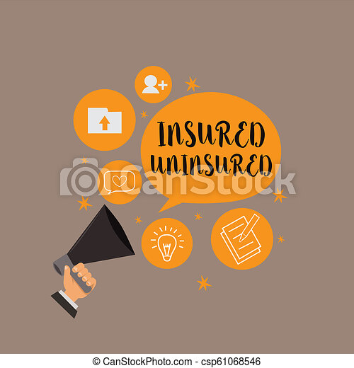 Writing note showing Insured Uninsured. Business photo showcasing Company selling insurance Checklist to choose from - csp61068546