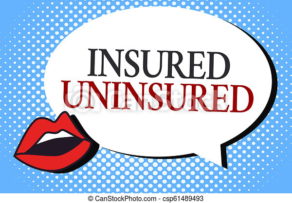Writing note showing Insured Uninsured. Business photo showcasing Company selling insurance Checklist to choose from - csp61489493