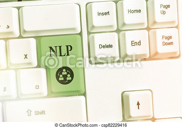 Writing note showing nlp. business photo showcasing ...
