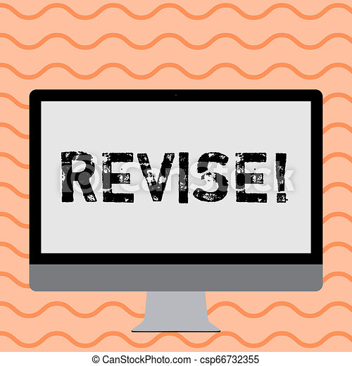 Writing note showing Revise. Business photo showcasing Reconsider something to improve it Review. - csp66732355