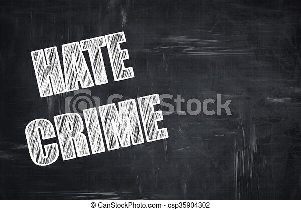 Escritura de pizarra: antecedentes de odio - csp35904302