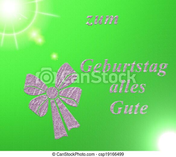Written In German Letters Happy Birthday Card