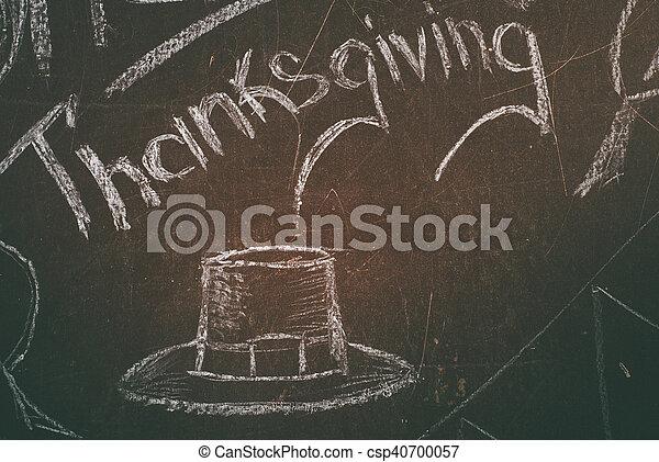 written in white chalk on a blackboard, - csp40700057