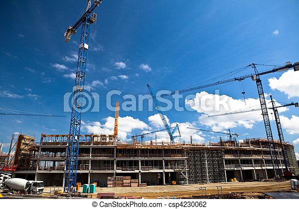 wroclaw, construção, futebol, local, estádio - csp4230062