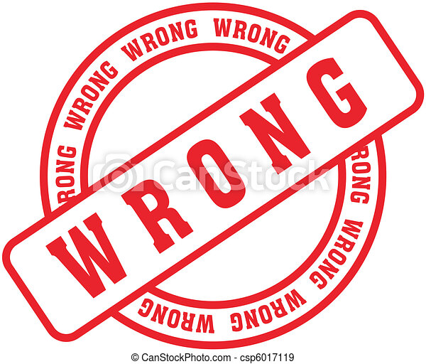 wrong word stamp8 wrong in vector format