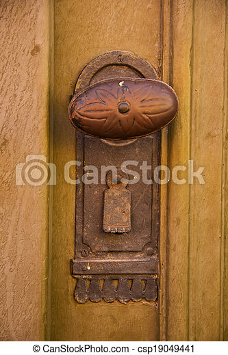Ornate wrought iron door knob stock photo - Search Photographs and ...