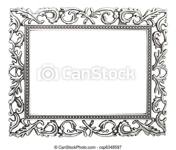 wrought iron frame stock photo - Wrought Iron Picture Frames