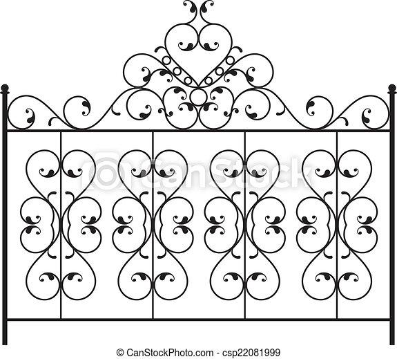 Wrought Iron Gate, Door, Fence, Window, Grill, Railing Design - csp22081999