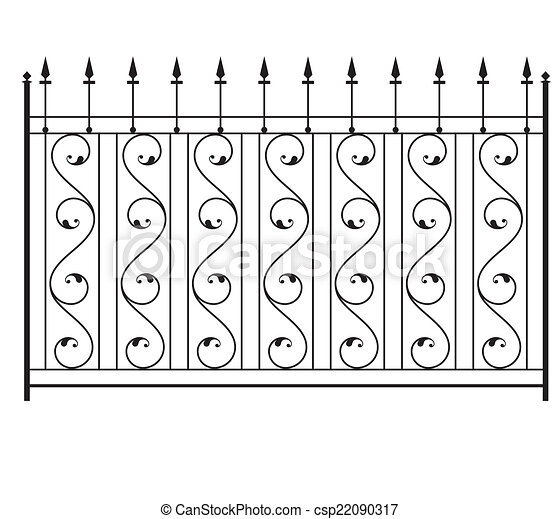 Wrought Iron Gate, Door, Fence, Window, Grill, Railing Design - csp22090317