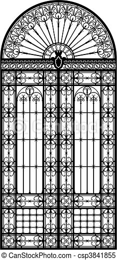 Wrought iron portal - csp3841855