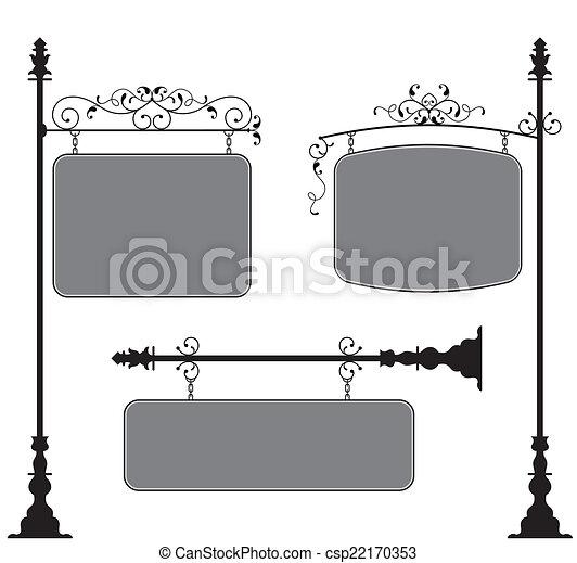 Wrought Iron Signage - csp22170353