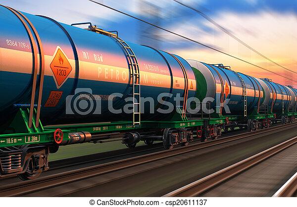 wtih, kiképez, kőolaj, tankcars, rakomány - csp20611137