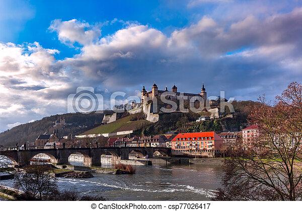 Wurzburg, Franconia, Northern Bavaria, Germany - csp77026417